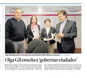 160215 Recorte prensa presentacion Olga Gil en Tarragona